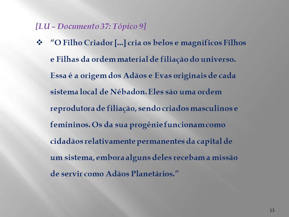 [LU – Documento 37: Tópico 9]